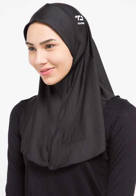 Third Day Co. Apparel TD Active Sport Hijab Zeta Hitam  1