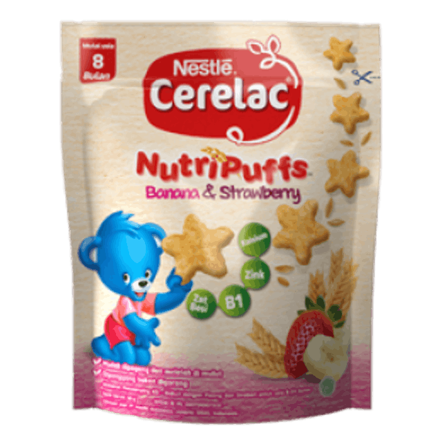 Nestlé  Cerelac NutriPuffs Banana & Strawberry 1