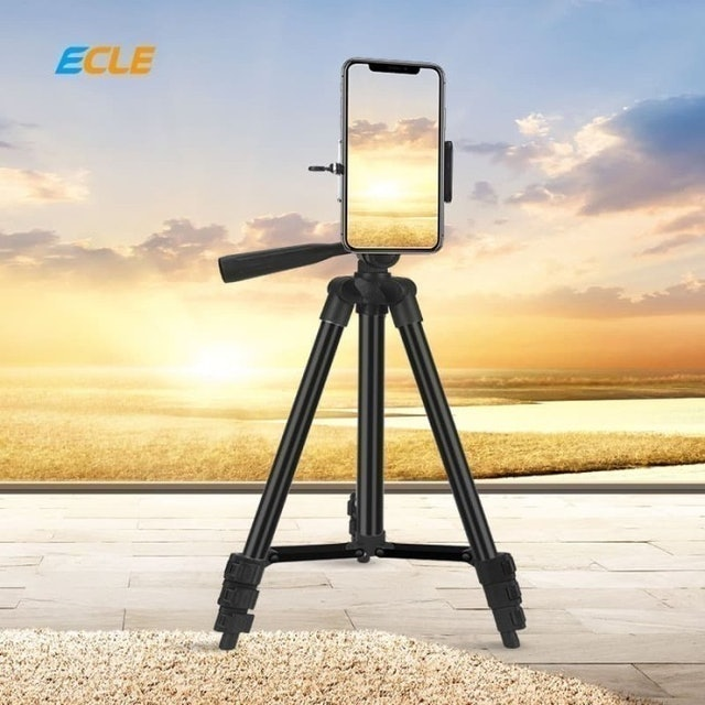 ECLE Tripod HP Camera Extendable Portable Stand + Phone Holder  1