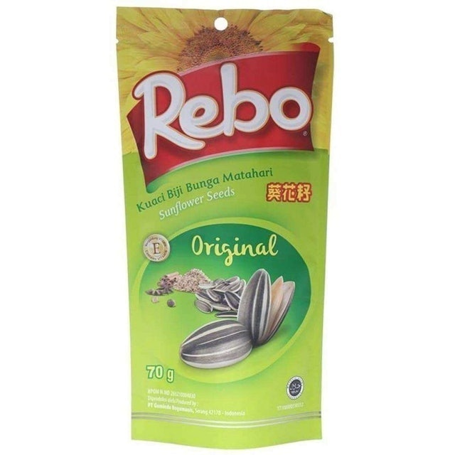 Rebo  Kuaci Biji Bunga Matahari Original (70 gr) 1