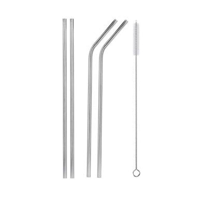Set Sedotan Minuman Stainless Steel 5in1 1