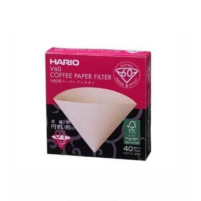 Hario  V60 Paper Filter 01 M 100 sheets (Box) 1