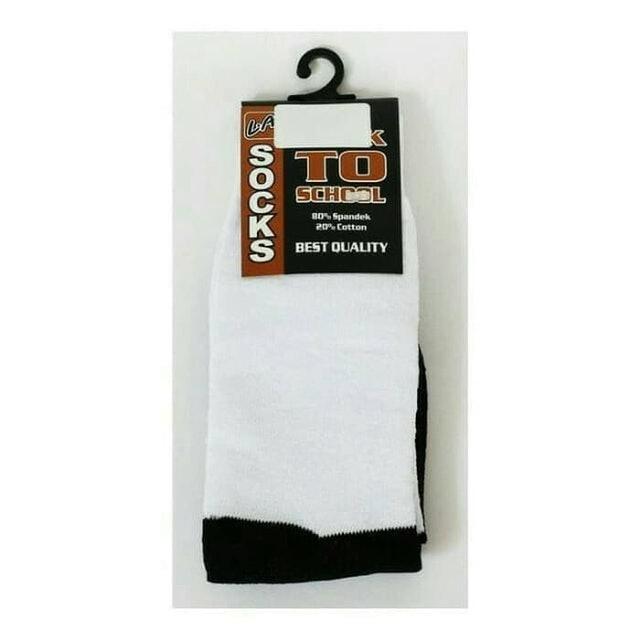 L.A Back To School  Socks Hitam Putih 1
