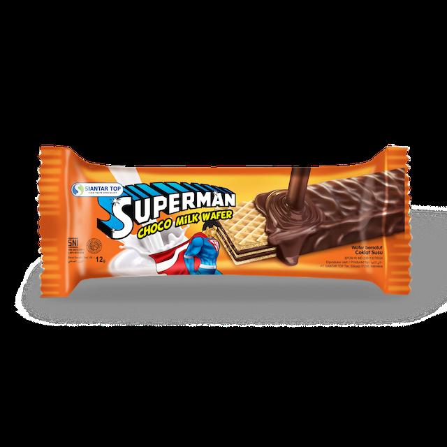 Siantar Top Superman Choco Milk Wafer 1