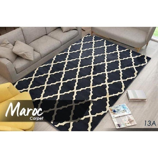 Maroc Carpet  Super Black 160x210 cm 1