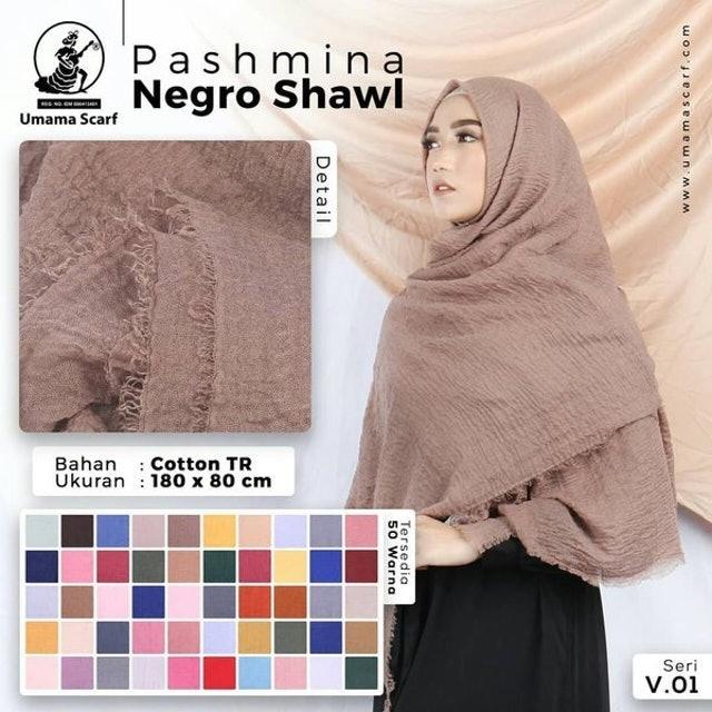 Umama Scarf Pashmina Negro Shawl  1