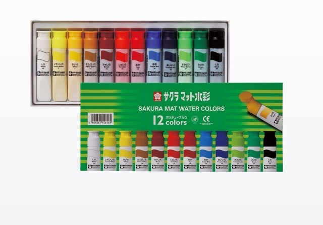 SAKURA COLOR PRODUCTS Mat Water Colors Plastic Tube 1