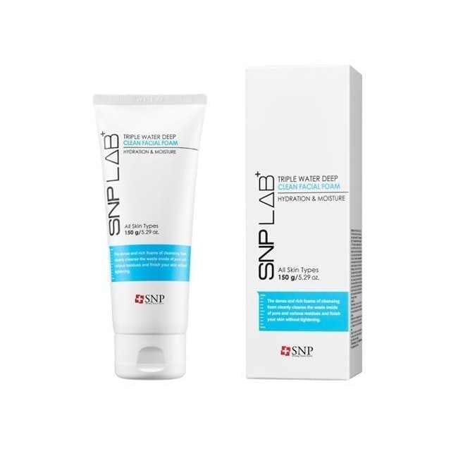 SNP LAB+ Triple Water Deep Clean Facial Foam 1