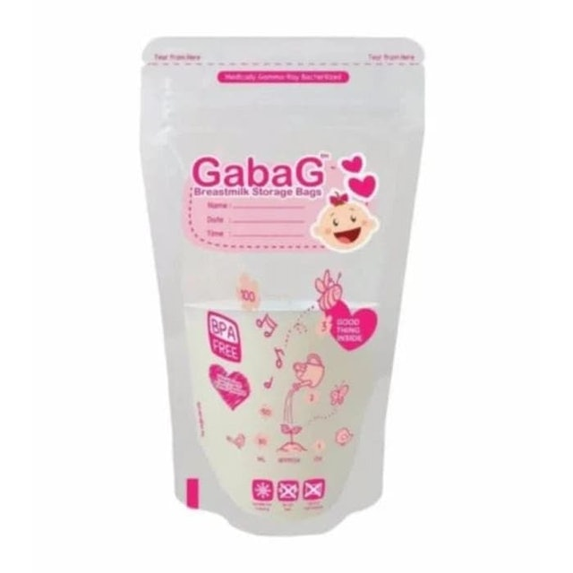 Gabag Breastmilk Storage Bags Pink  1