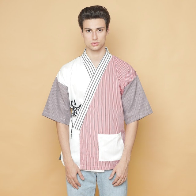 Oniisan Men's Fabric Swatches Kimono 1