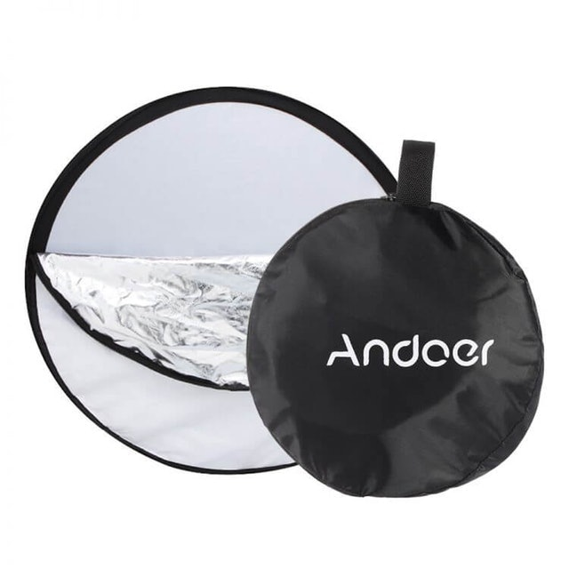 "Andoer 24"" 60cm Disc 5 in 1 Multi Portable Collapsible Photography Studio Photo Light Reflector 1"