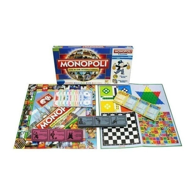 Monopoli Five in One International 1