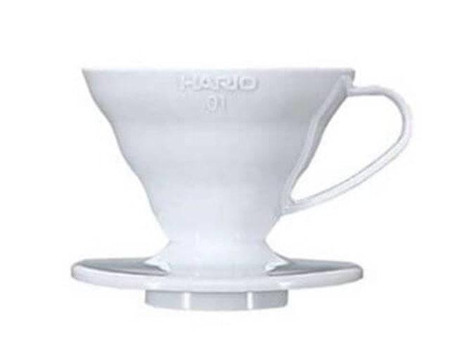 Hario  V60 Plastic Coffee Dripper 01 White 1