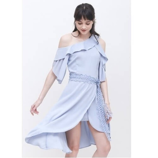 ESYE  Liv Flowly Dress Blue 1
