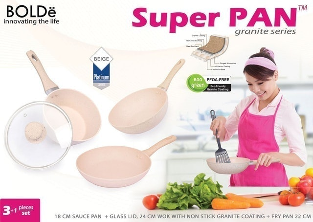 BOLDe Super Pan Granite 3+1 pcs Sets Beige 1