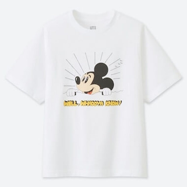 Uniqlo  Women Mickey Art UT Jeremyville (Short-Sleeve Graphic T-Shirt) 1