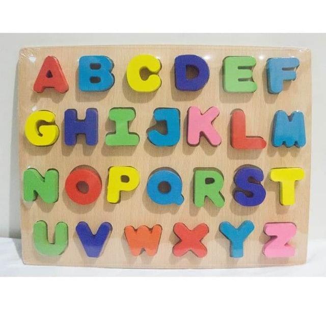 Puzzle Kayu Alphabet Huruf Timbul 1