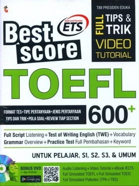 Tim Presiden Eduka Best Score TOEFL 600+ 1