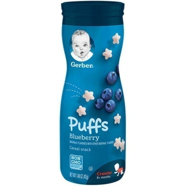 Gerber  Puffs Cereal Snack, Blueberry, 1.48 oz 1