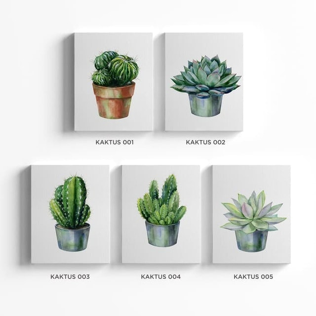 Kayugraphy Hiasan Dinding Kaktus 1
