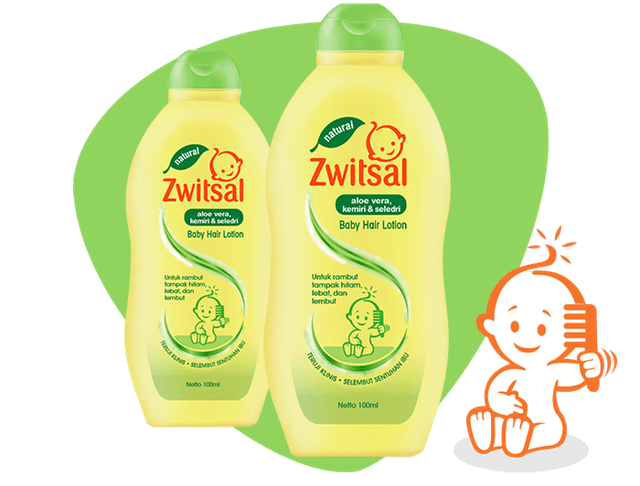 Zwitsal Baby Hair Lotion Natural with Aloe Vera Kemiri Seledri 1