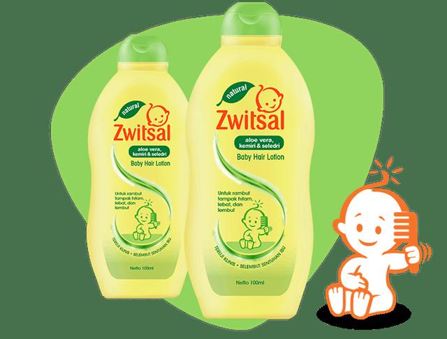 Zwitsal Baby Hair Lotion Natural with Aloe Vera Kemiri Seledri 1