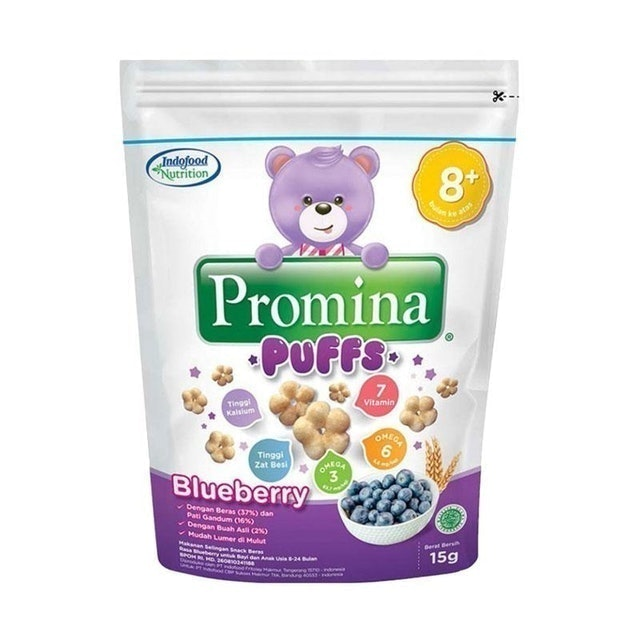 Indofood Nutrition Promina Puffs Blueberry 1