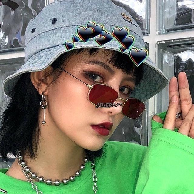 Kacamata Hitam Candy Color Gaya Retro 1