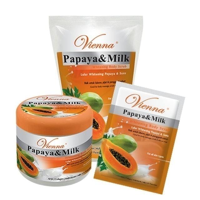 Vienna  Papaya & Milk Whitening Body Scrub  1