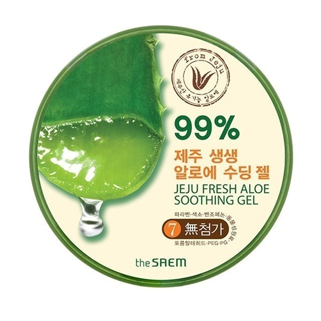 the SAEM Jeju Fresh Aloe Soothing Gel 99% 1