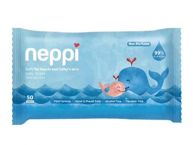 Neppi  Baby Wipes Non-Parfum 1
