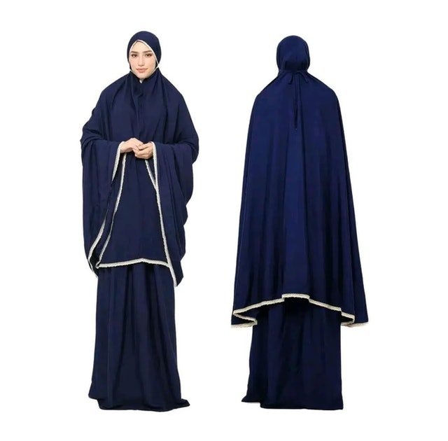 Tazkia Collections Mukena Plain Navy 1