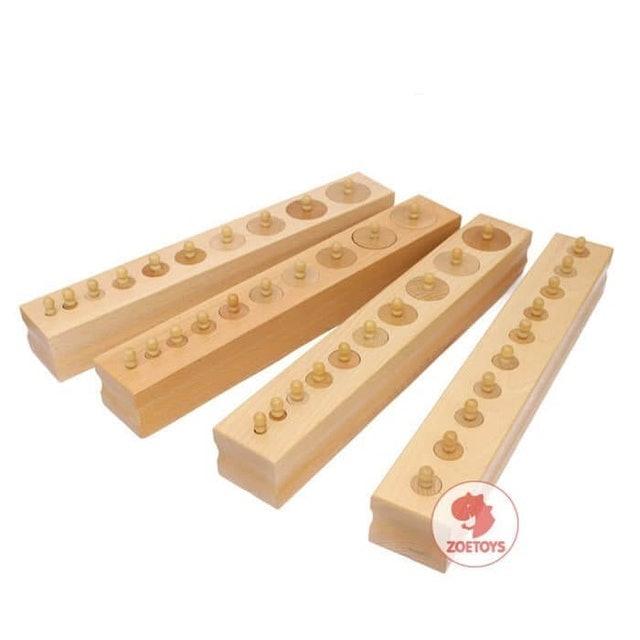Zoetoys  Montessori Knob Cylinder 10 1