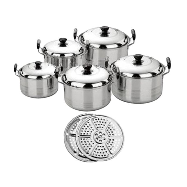 Kingko  Panci Set 5 Pcs + Steamer 1