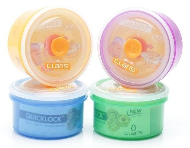 Claris  Quicklock Round Air Tight Food Container  1