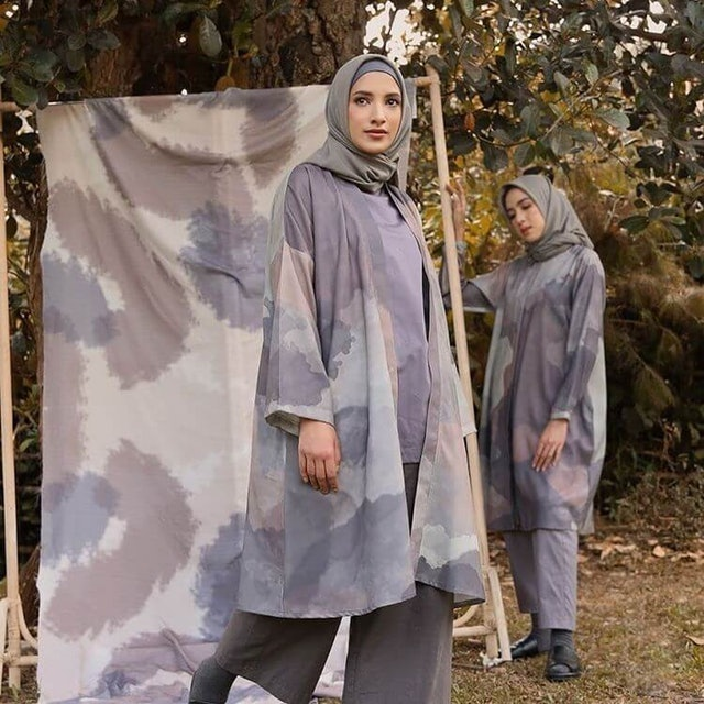Maima Indonesia Splatter Outer Mocca Grey 1