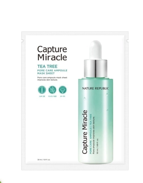 Nature Republic Capture Miracle Pore Care Ampoule Mask Sheet  1