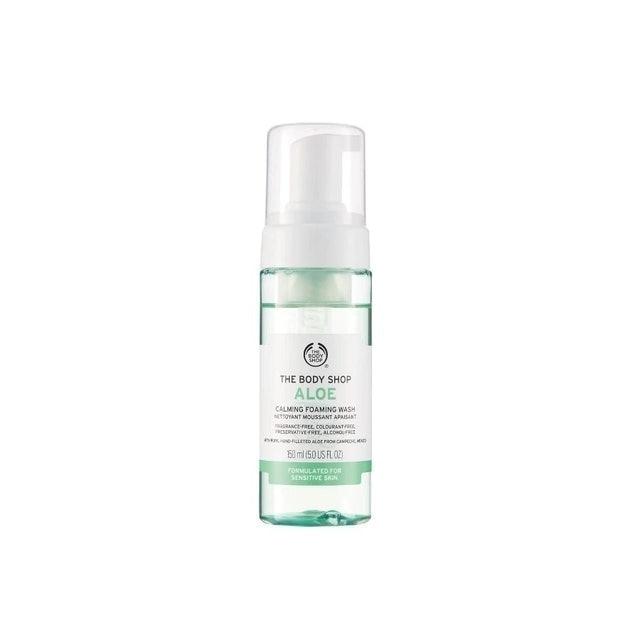 The Body Shop  Aloe Calming Foaming Face Wash 1