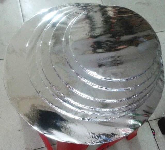 Alas Kue Tart Triplek Silver 1