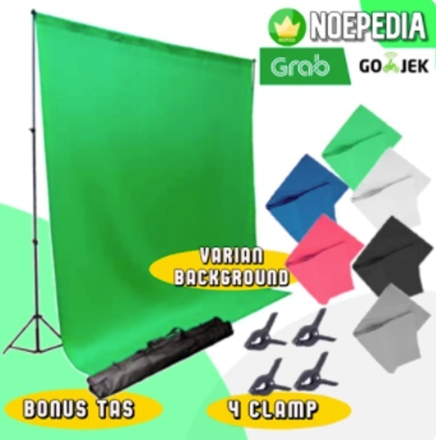 Stand Background 3 Meter Bracket Green Screen - Hijau 1