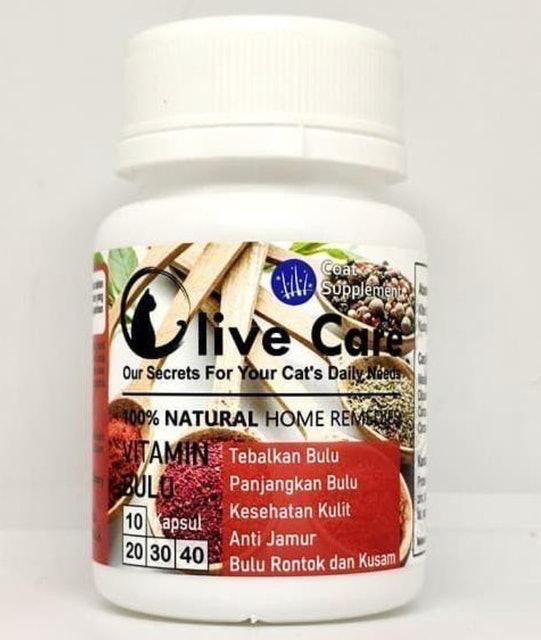 Olive Care Vitamin Kucing untuk Bulu Lebat dan Panjang  1