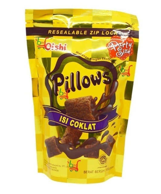 Oishi Pillows Craker Coklat Isi Coklat 1