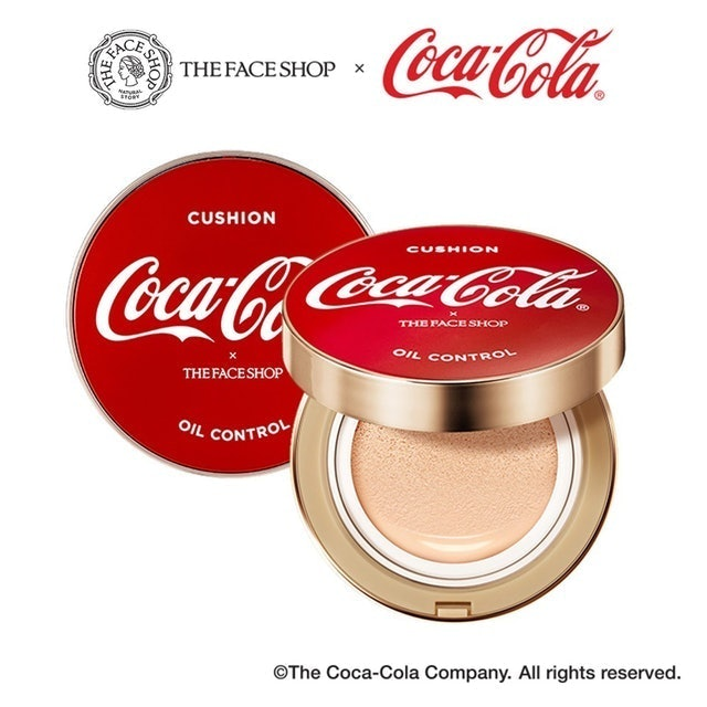 Thefaceshop X Coca Cola  Oil Control Water Cushion SPF50+ PA+++  1