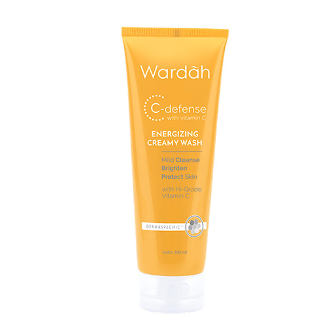 Wardah  C-Defense Energizing Creamy Wash 1