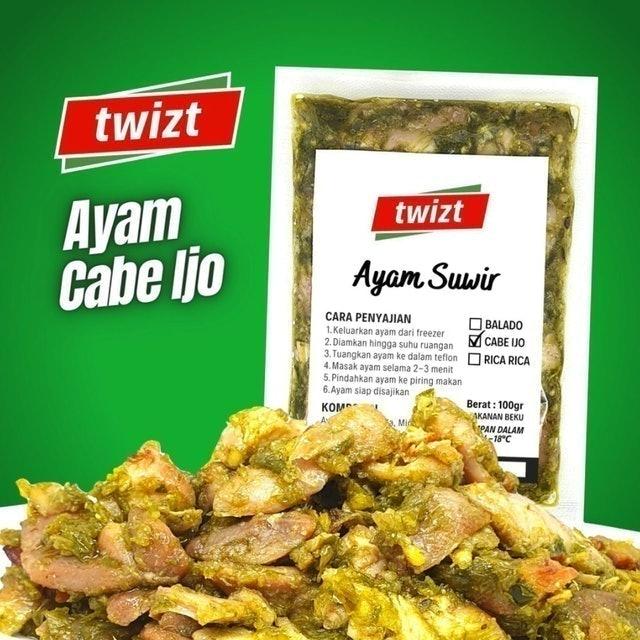 Twizt Frozen Food Twizt Ayam Suwir Cabe Ijo - 100gr 1