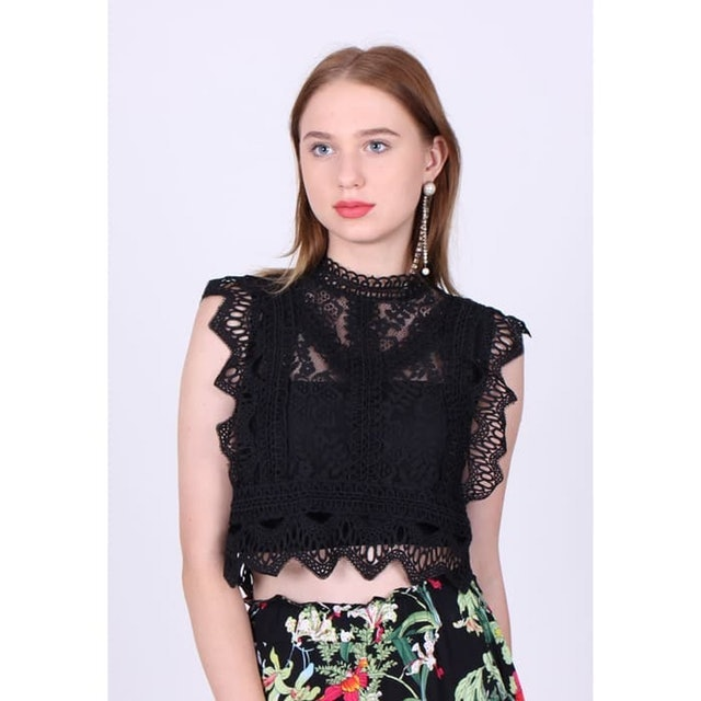 Magnolia Collection  Sleeveless Lace Top 1