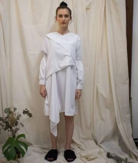 Namirah The Label White Honoaru Dress 1