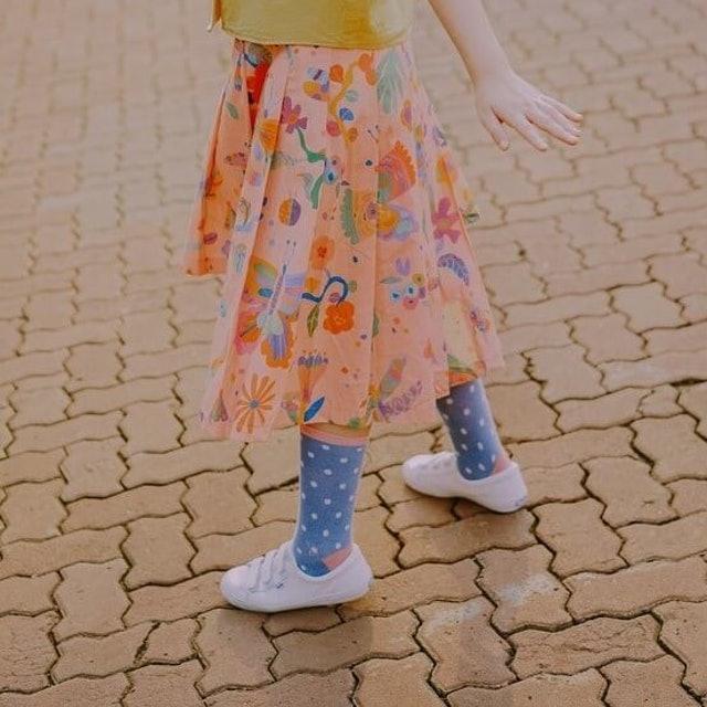 Smitten by Pattern  Asymmetrical Skirt Insectroops Peach  1