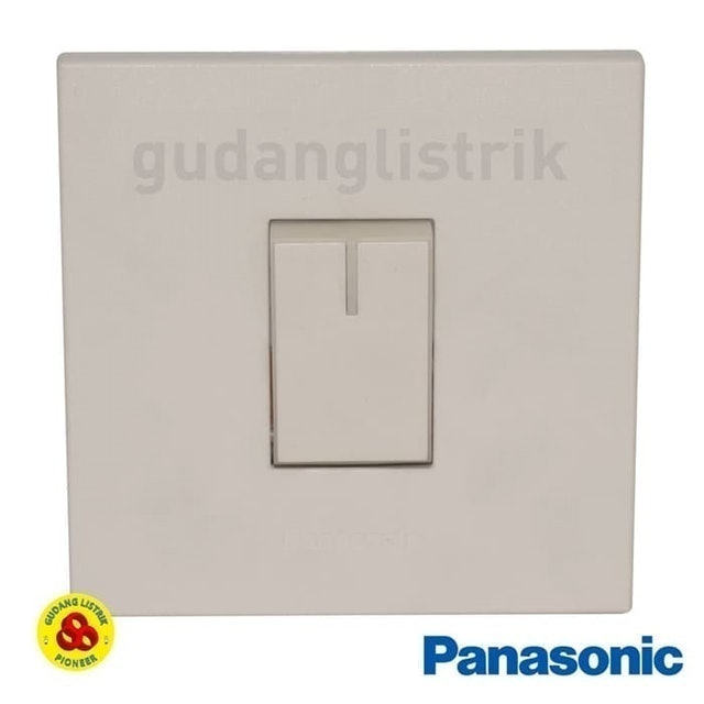 Panasonic  Sakelar Engkel 1G WESJ78019 + WESJ5931 White Style Series 1