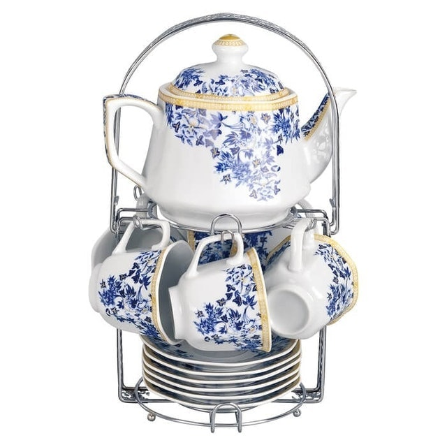 Vicenza  Tea Set Segi Delapan Motif Ayana 1